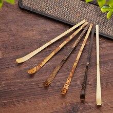 Artesanal de bambu matcha colher colher chá colher matcha folha de chá varas chá agulha especiaria cozinha chá cerimônia utensílios acessórios 18*1cm