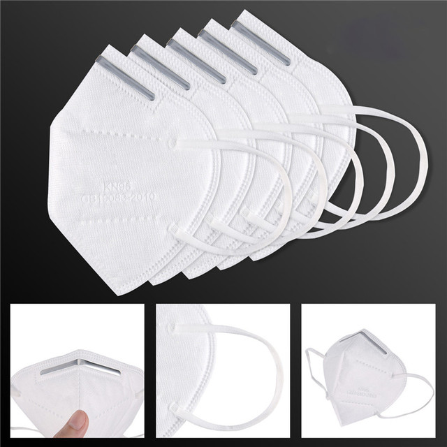 10pcs Medical N95 Mask Anti Air Dust Face Mask Mouth 95% Filtration Windproof Proof Flu Masks Protective Respirator Reusable 3