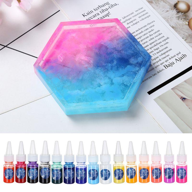 10ml Snow Flour Dyeing Fine Rendering Diffusion DIY Crystal Epoxy Mold Art Dye Pigment