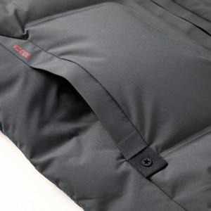 Image 5 - 2019 긴 다운 재킷 후드 남성 겨울 코트 모자 회색 오리 잘 생긴 품질 편안한 패션 인과 따뜻한 outwear