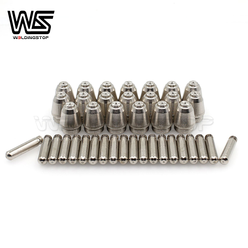 Taiwan SG-55   AG-60 AG60 plasma cutter torch consumables electrode nozzle tips 40 pcs package