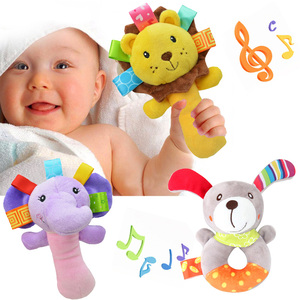 Plush Baby Rattles Toys 0 12 Months Animal Newborn Girl Boy Mobile Bell Toy Infant Toddler Early Educational Toys Room Decor