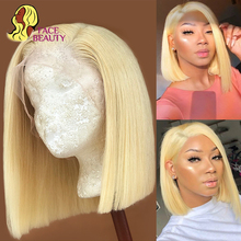 13x1 Bob Wig 1B 613 Ombre Honey Blonde Straight Brazilian Lace Front Human Hair Wig Pre Plucked Short Remy Wig for Black Women