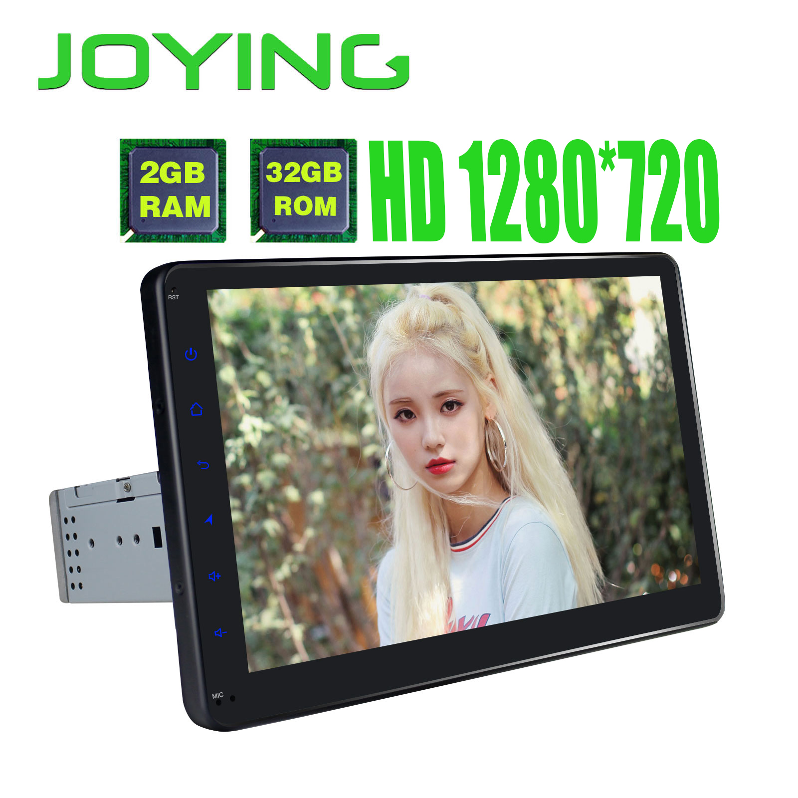 Joying new Android 5.1 Universal Single 1 DIN 8 Car Radio Stereo Quad Core Head Unit Support Dual Zone Steering Wheel Camera