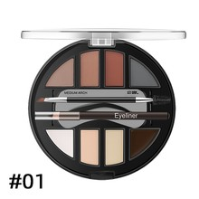 Eyebrow Powder Set 7 Color Waterproof Long Lasting Eye Brow Palette Cosmetic Kit with Brush Women Makeup Powder  eyebrow pomade 3pcs set waterproof eyebrow natural shape brow stamp powder palette