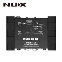 NUX PDI 1G Guitar Direct Injection Phantom Power Box Audio Mixer Para Out Compact Design Black Metal Housing Guitar Accessories