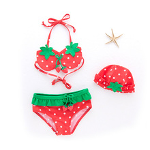 Baby Girls Strawberry Swimwear Swimsuit Kids Bikini Bathing Suit Beachwear Fruit Kids Clothing Girl for Swimming kids girls outfits children bikini set pink swimsuit swimwear beachwear swimming girl bathing suit