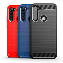 Luxury Case for Xiaomi Redmi Note 8 8T Cover Carbon Fiber Texture Brushed Case for Redmi Note 8 Pro Shockproof phone Cover