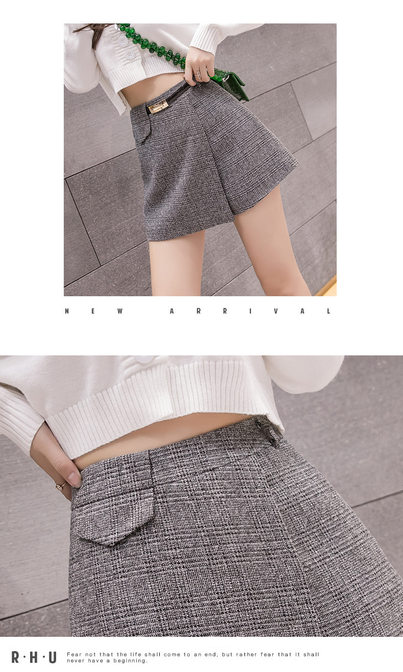 H8a00d2dd84334377be13a87fb6ed8444w - Irregular Woolen Plaid Shorts Skirts For Women Atumn Winter Office Short Women Plus Size Booty Shorts Feminino