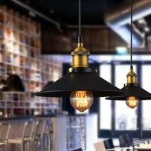 Высокое качество света скандинавские ретро огни Железный Абажур Черный винтажный промышленный подвесной светильник скандинавский минималистичный остров-кухня
