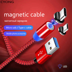 Magnetic USB cable type c cable charger micro usb c to charging cable c cable fast charge
