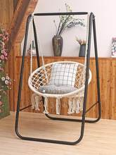 Hanging chair fringed living room indoor homestay home cradle cotton rope basket Nordic ins lazy vibrato net red swing(China)