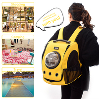 Breathable Cat Backpack Transparent Pet Carrier Bag with Transparent Window Waterproof Space Capsule Pet Travel Carrier