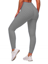 цена на High Waisted Leggings for Women Cotton Pants Womens Grey Fitness Legging Push Up Anti Cellulite Workout Running Leggins Work Out