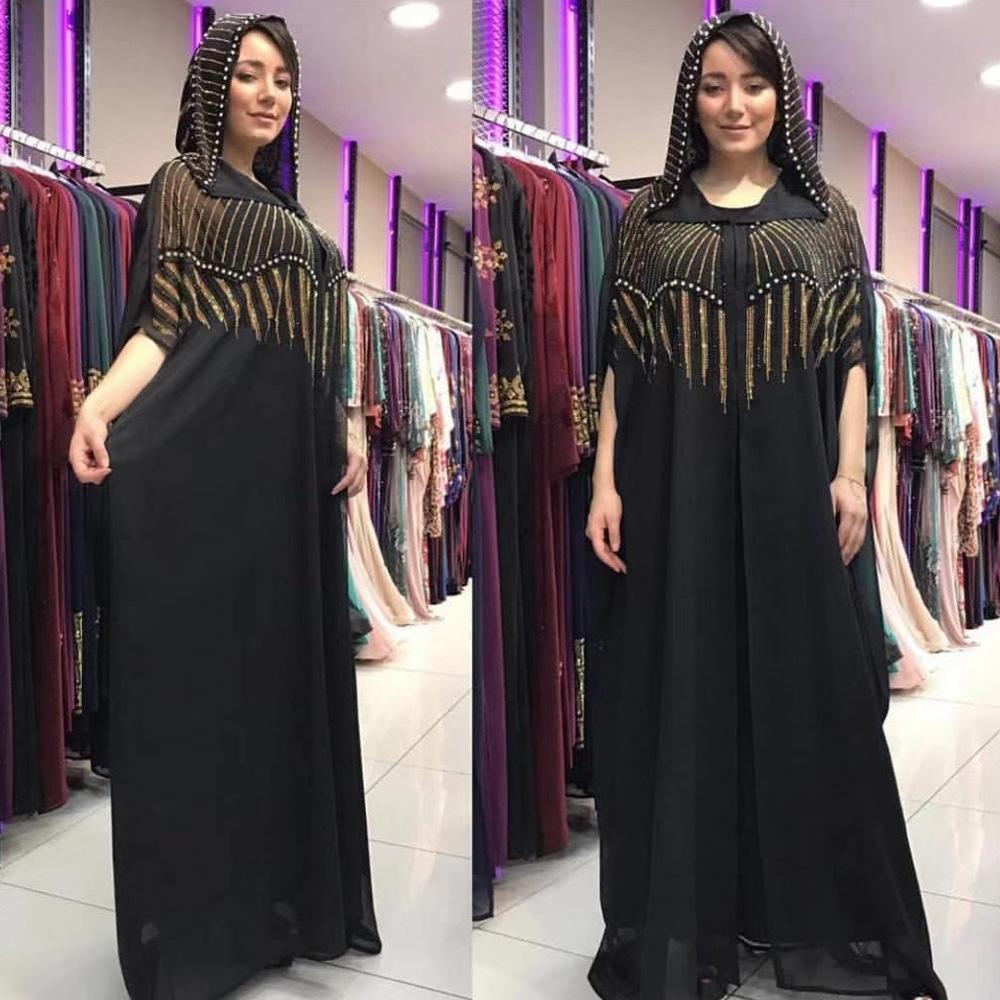 US $10.10 10% OFFLadies African Kaftan Dubai Abaya Turkish Hijab Muslim  Dress Women Dresses Caftan Marocain Islamic Clothing Gamis Muslim Wanita on