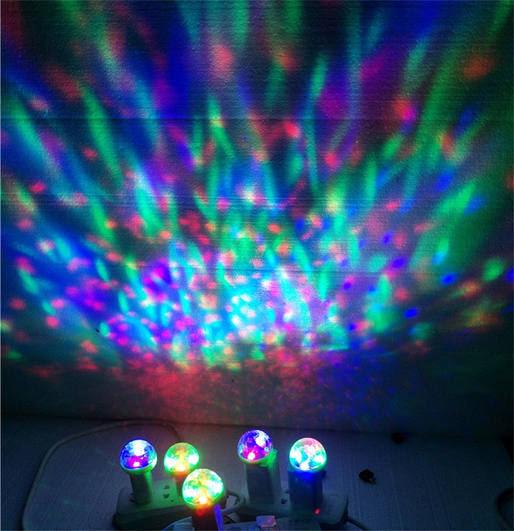 Disco-Ball Rotating-Mirror Android Decoration Stage-Light Usb-Powered Projector RGB