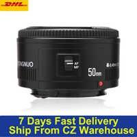 Original YONGNUO speedlite YN EF 50mm f/1,8 AF lente de la Cámara a las 1:1 8 objetivo fijo estándar de apertura de enfoque automático para Canon EOS cámaras DSLR