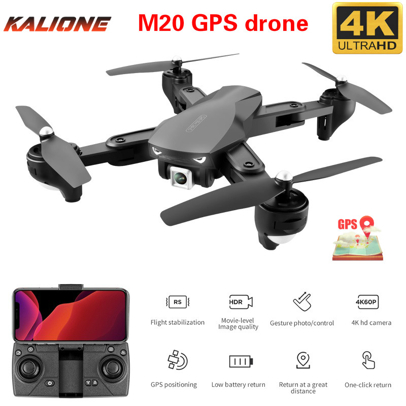 M20 RC Drone 4k with Camera GPS Altitude Hold HD 2 4G WIFI FPV Quadcopter Drone Helicopter Follow one key return Toys for Kids