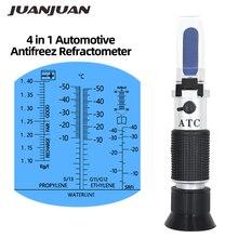 4 в 1 двигатель Жидкость гликоль температура замораживания карбамид Adblue автомобильный аккумулятор рефрактометр автомобильный антифриз рефрактометр скидка 34