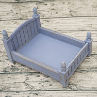Background Crib Infant Mini Prop Bed Photo Vintage Newborn Baby Photography Studio Accessories Posing Wooden Gift