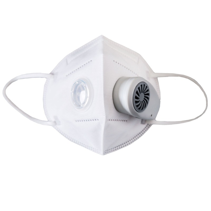Electronic Face Mask Electric with Breather Valve Dustproof Anti-fog Haze Multi-functional Face Mask Air Cleaner Air Purifier