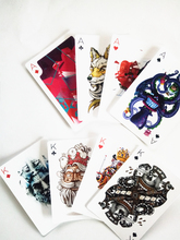 55pcs poker Playing cards pattern with retro characters and abstract drawings Scrapbooking Stickers /Decorative Sticker