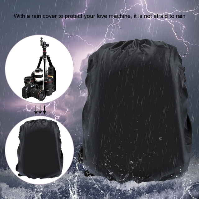 PULUZ Photo Backpack DSLR Bag Tripod Bag Outdoor Portable Waterproof Camera Photography Sac Appareil Reflex Black Sac appareil 6