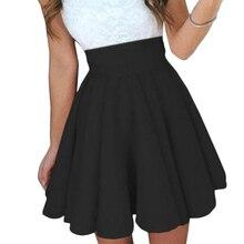 Сексуальная теннисная юбка для девочек, Спортивная юбка, высокое качество, простая короткая скейтерская модная женская однотонная мини плиссированная пляжная юбка