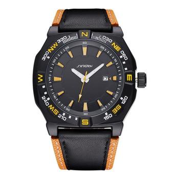2020 Luxury Brand Sports Men's Watch Leather Strap Military Automatic Date Waterproof Quartz Men's Watch Relogio Masculino