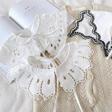 2021 Women Fake Collars Shawl Lace Floral False Collar Shirt Detachable Collar Sweater Dress Half Shirt Faux Col