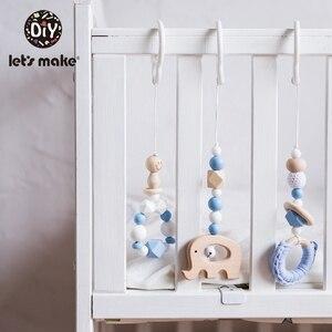 Image 2 - LetS zrobić 50Pc z tworzywa sztucznego podwójna klamra łańcuszek do smoczka spersonalizowane smoczek klip dziecko łóżko wiszące grzechotki zawieszki do wózka dla dziecka