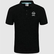 Логотип Opel, мужская летняя рубашка поло с коротким рукавом, Хлопковая весенняя повседневная мужская рубашка Поло