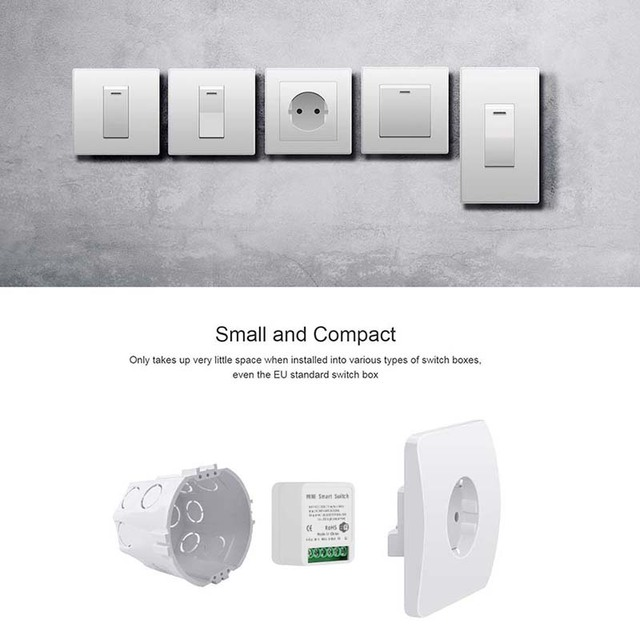 Tuya MINI Wifi Smart Switch 16A 2-way Control Timer Wireless Switches Smart Life Automation Compatible With Alexa Google Home 3
