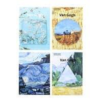 4 teile/los Van Gogh notizblöcke Geometrie Haftnotiz Post Es sternennacht gästebuch aufkleber Schreibwaren Büro schulbedarf 01927