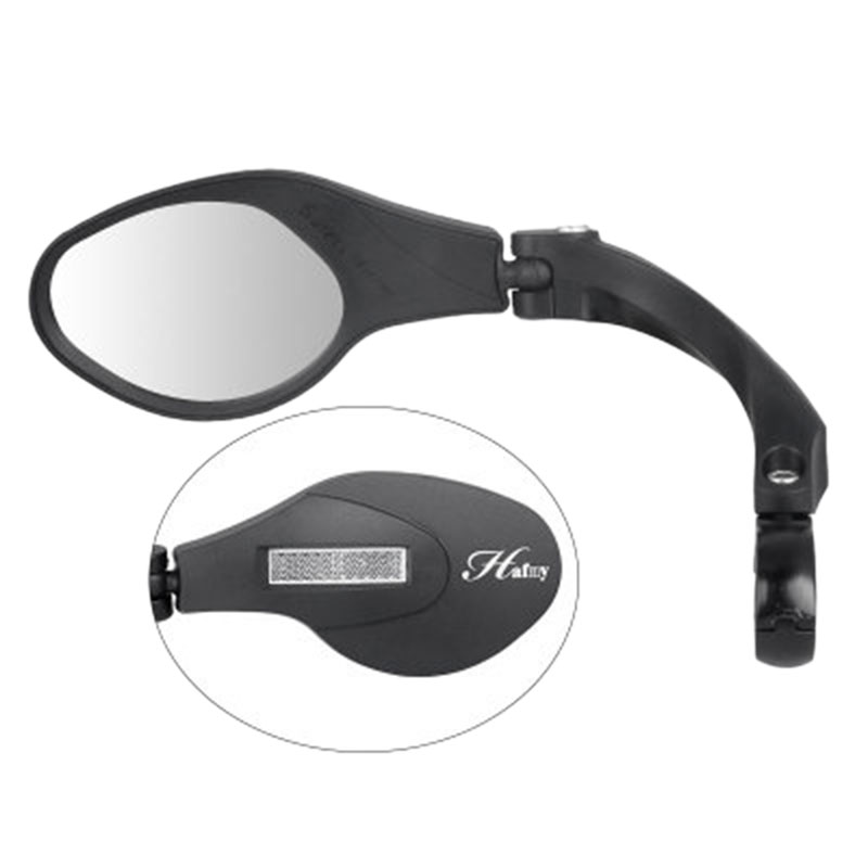1Pc Bicycle Rearview Mirror Electric Vehicle Stainless Steel Mirror Foldable Mirror Adjusting Angle Universal Bicycle Safety Rea|Bike Mirrors| |  - title=