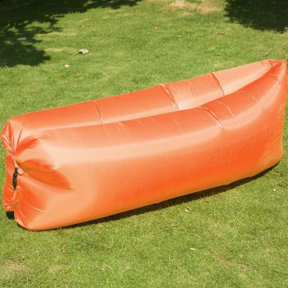 Banana Inflatable Beach Lounger Couch <font><b>Air</b></font> Mattresses Hammock with Backrest Portable <font><b>Air</b></font> Sofa Chair Bed image