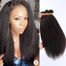 Kinky Straight Hair Bundles Brazilian Hair Weave Bundles 28 30 Inch Bundles Remy Yaki Straight Human Hair Bundles Hair Extension