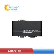 VGA splitter Amoonsky AMS-V1S2 1 VGA input and 2 VGA output VGA Monitor Switcher for PC Laptop