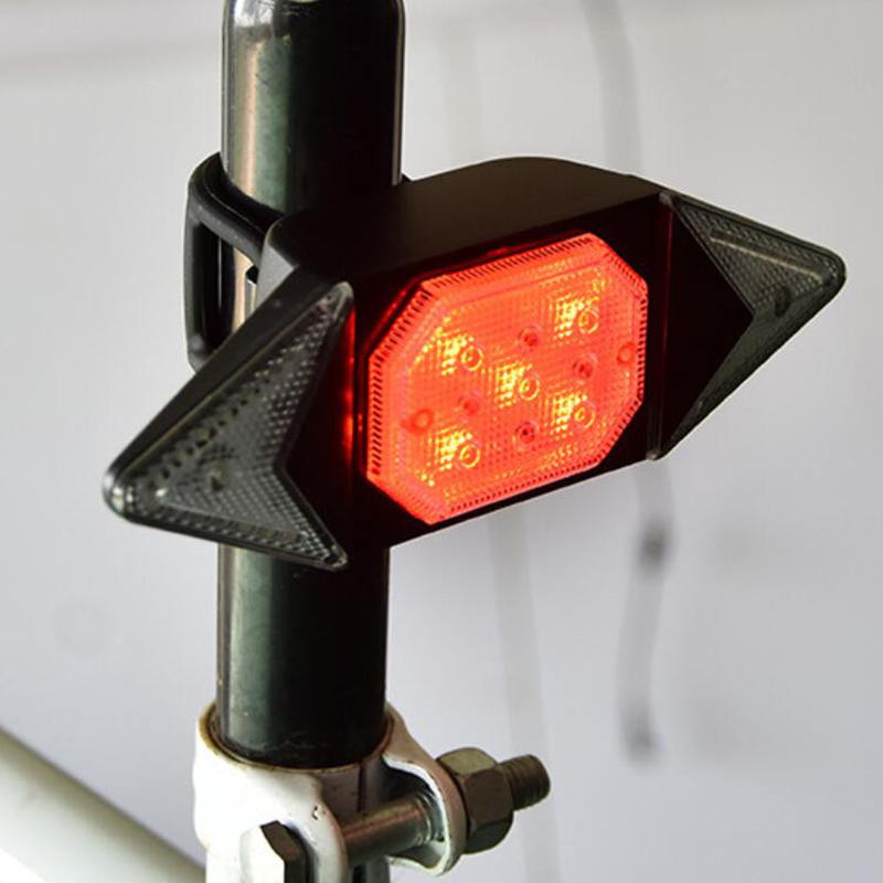 LED Automatic Direction Indicator Bicycle <font><b>Rear</b></font> Taillight USB Rechargeable Cycling MTB <font><b>Bike</b></font> Safety Warning Turn <font><b>Signals</b></font> <font><b>Light</b></font> image