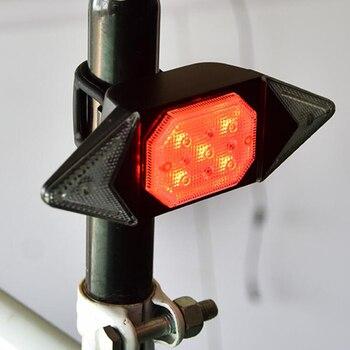 LED Automatische Richtung Anzeige Fahrrad Hinten Rücklicht USB Aufladbare Radfahren MTB Bike Sicherheit Warnung Blinker Licht