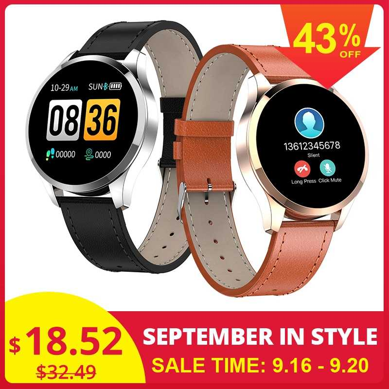 Newwear Q9 Smart Watch Gelang Tahan Air HR Sensor Heart Rate Tekanan Darah Monitor Fashion Kebugaran Tracker Smartwatch Pria