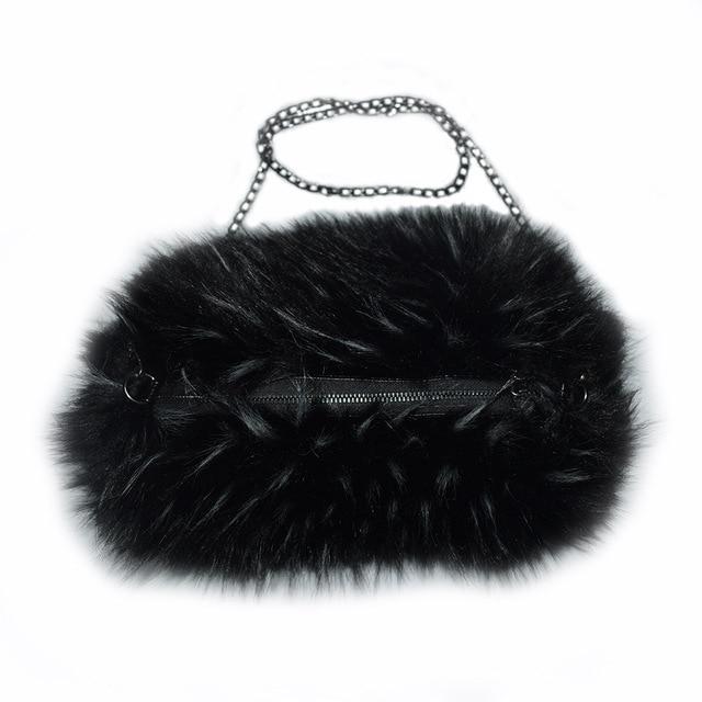MS.MinShu-sac dhiver en fausse fourrure | Mitaines dhiver à la mode pour femmes, avec sac chauffe-main