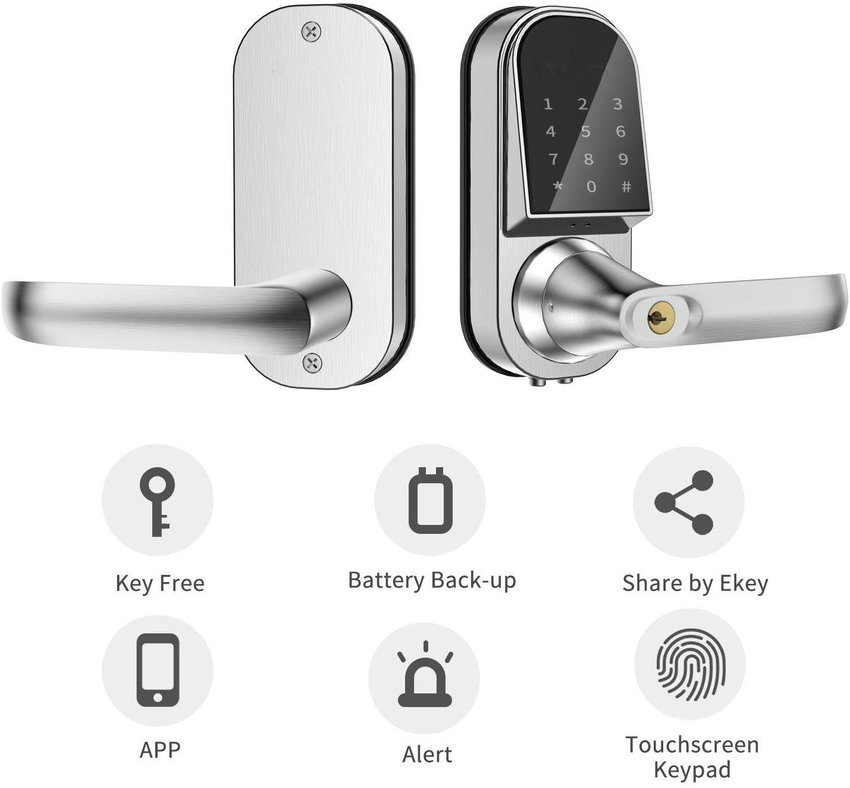 Image 5 - Smart Lock Keyless Entry Door Lock Electronic Front Door Lock APP Control Bluetooth Mechanical Keys Home touch screen lock