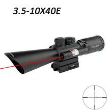 Тактический M8 3,5-10x40 стрелковый прицел охотничий прицел оптические прицелы с красным лазером