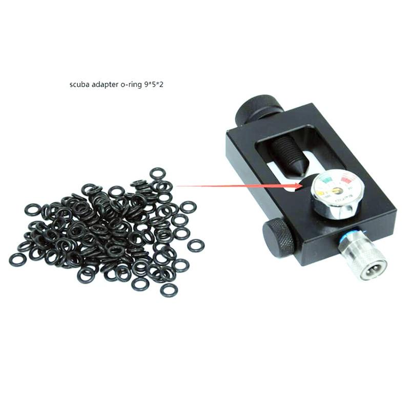 Free Shipping PCP Paintball Scuba Tank Fill Station Adaptor Seal O-ring Black 50pcs/lot