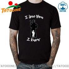 Tatooine, футболка с надписью True love story I love you I знаю, футболка для женщин и мужчин Leia, футболка джедая, Хань, пары, подарок, топ, футболка, Мужская фу...