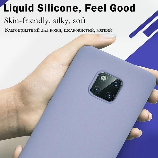 Original Liquid Silicone Phone Case For Huawei P30 P20 P40 Mate 20 30 Honor 20 Lite Pro P Smart 2019 Luxury Soft Protector Cover 2
