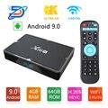 X96H Smart tv Box Android 9 0 Bluetooth 4 1 GPU Mali T720 4G Ram 32G/64G Rom USB 3 0 Поддержка 2 4G беспроводная мышь/клавиатура 6K