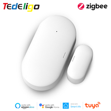 Tuya Zigbee Window Door Detector Smart Life Sensor Wireless Remote Control Voice Work with Gateway Bridge Google Home Alexa Echo