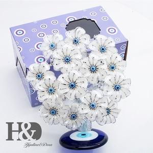 Image 3 - H & D Древо фэн шуй, цветы от сглаза для защиты, удачи и удачи, рождественский подарок, Декор для дома из смолы